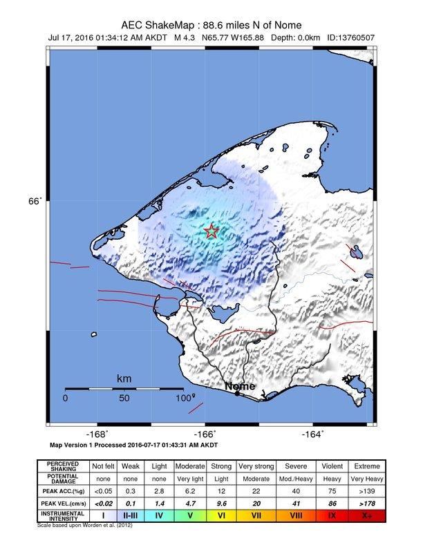 Earthquake info : M4.1 earthquake on Sun, 17 Jul 09:34:11 UTC ...