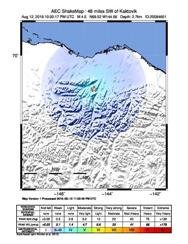 Kaktovik Alaska Map.Earthquake Info M4 5 Earthquake On Sun 12 Aug 22 00 17 Utc