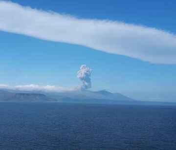 Few seconds after begin of eruption (public domain)