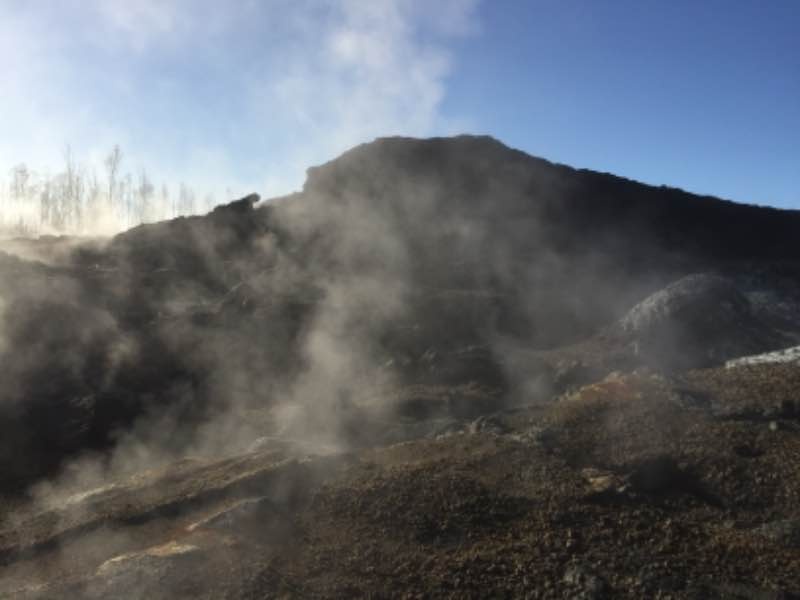 Steam emissions at fissure 24 (public domain)